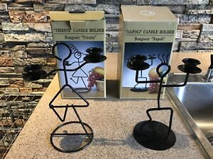 Metal Napoli and Trieste (boy and girl) Candle holders