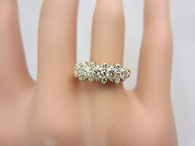 14K Yellow Gold Diamond Wedding Ring Band 1.00 CT