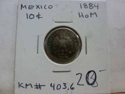 Mexico 10 Centavos 1884 Ho M Coin KM# 403.6