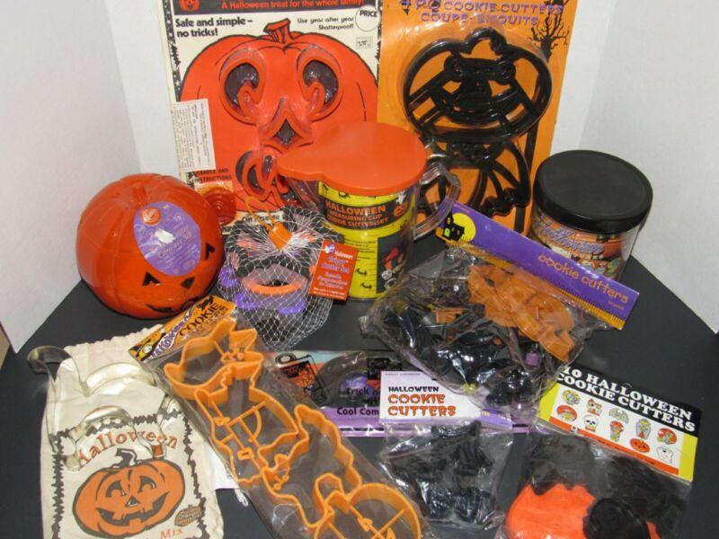 Huge Lot Of Halloween Cookie Cutters