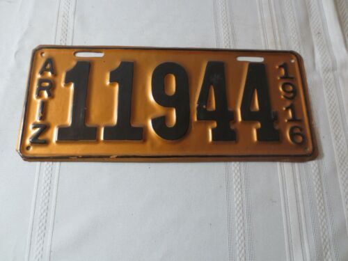 1916 ARIZONA RESTORED LICENSE PLATE 11944
