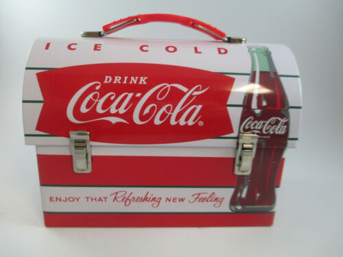 Coca-Cola Workman Tin Lunch Box Red Refreshing New Feeling Retro Carry
