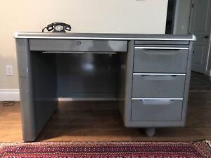 Vintage metal desk