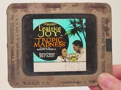 Tropic Madness   - Original 1928  Movie Glass Slide - Leatrice Joy