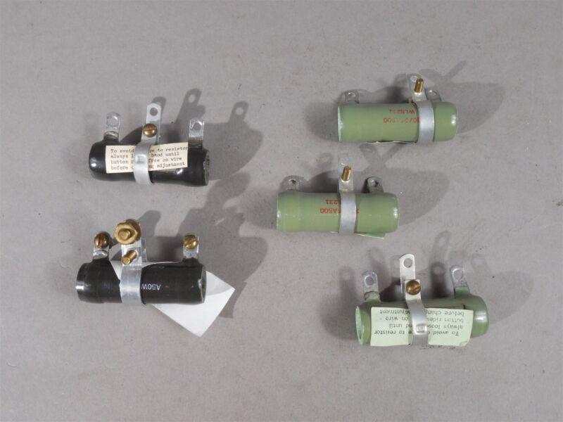 LOT of 5 Assorted Ceramic Tube 30_25A500 Adjustable Rheostat Resistor