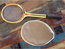VINTAGE SLAZENGER TENNIS RACQUET Royal crown with cover Wonglepong Ipswich South Preview