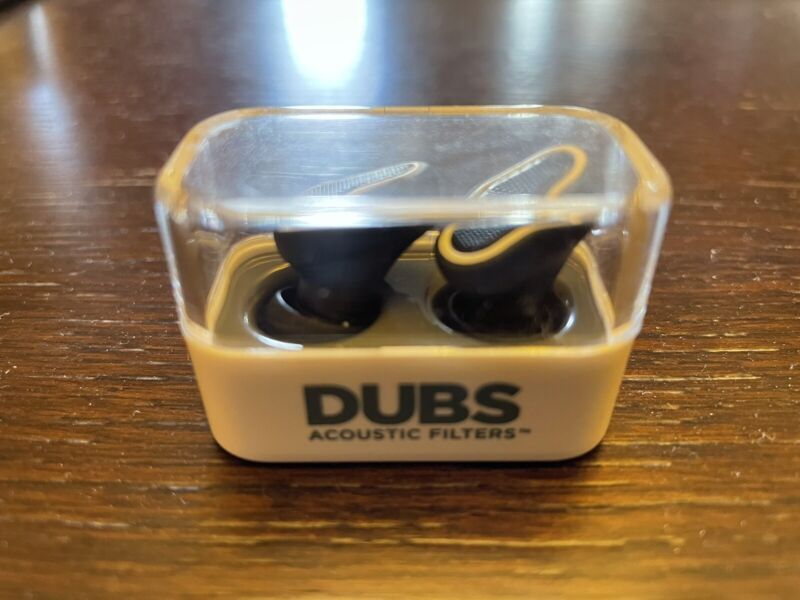 DUBS Acoustic Filters  Noise Reduction, Hearing Protection Ear Plugs - Black
