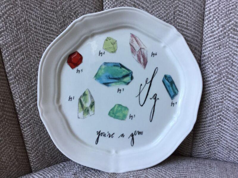 "Anthropologie Plate Linea Carta by Diva Pyari G ""you"