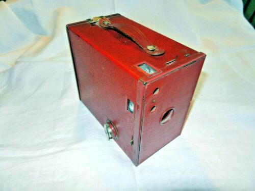 Rare Red Eastman Kodak Brownie #2 Model C Box Camera in Ex. Cond. Sutter Works