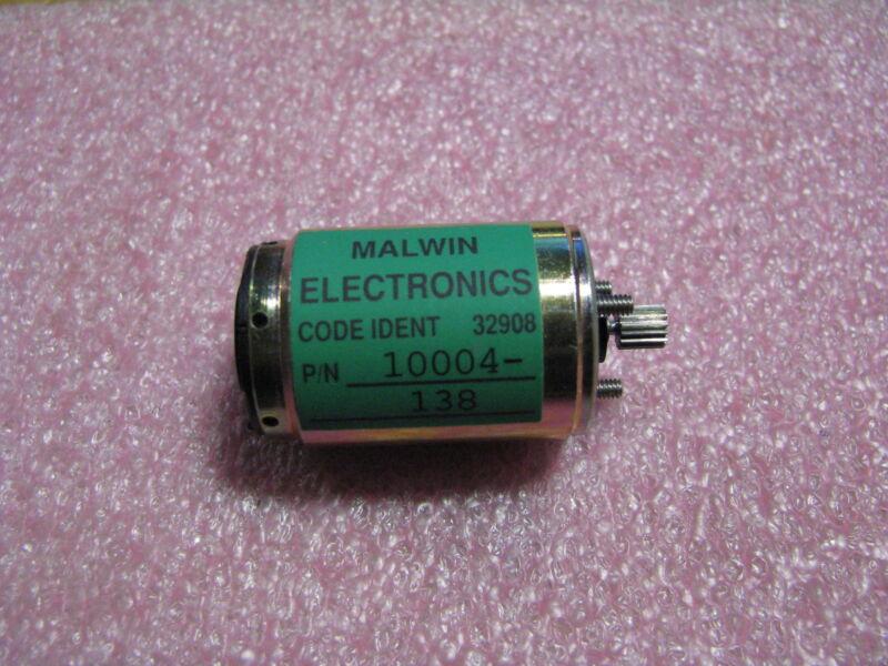 MALWIN ELECTRONICS MOTOR & PINION # 10004-138  NSN: 6105-01-317-1179