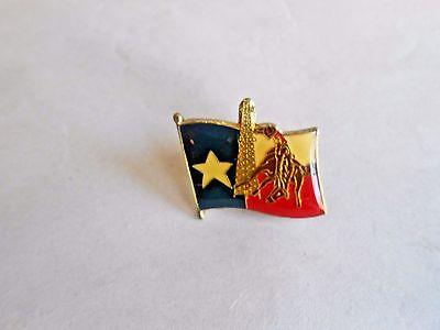 Vintage State of Texas Souvenir Flag Pin