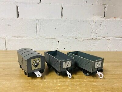 Grey Troublesome Brakevan Truck X 3 - Thomas & Friends Trackmaster Tomy Trains