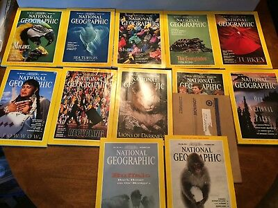 National Geographic Magazine  1994  Complete Year  12 Issues