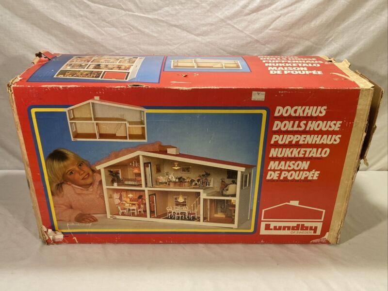 Vintage Lunby Dollhouse In Original Box