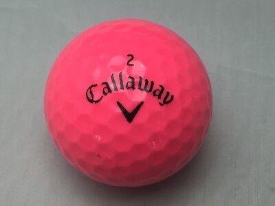 24 Pink Ladies Callaway SuperSoft AAAA Near Mint Golf Balls Free Tees](Golf Balls Pink)