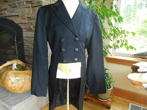 EUC Grand Prix Shadbelly Show Coat Youth Girls Size 14R Black (EJ41)