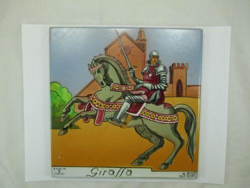 Antique Vintage DINO ROFI 1943 ITALY Painted Tile RARE Italian Art S. Lucia 110E
