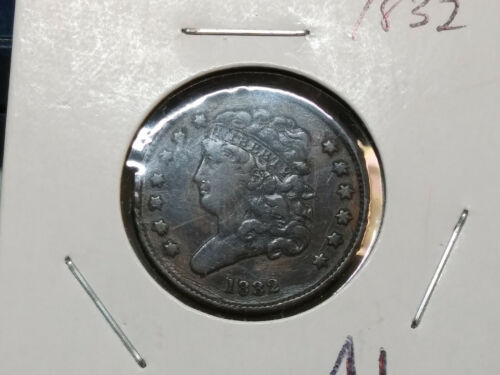 Nice 1832 Classic Head US Half Cent LOW MINTAGE