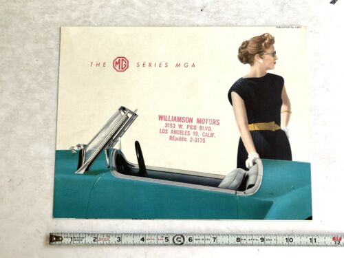 1958-1959  MG SERIES MGA   DEALER SALES BROCHURES ORIGINAL