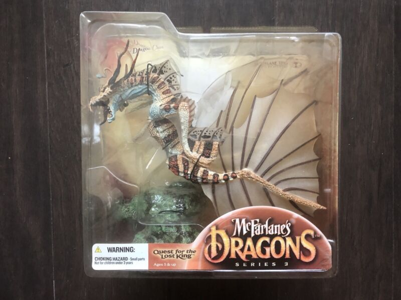 McFarlane's Dragons series 3 Water Dragon Clan 3 Quest for the Lost King figure