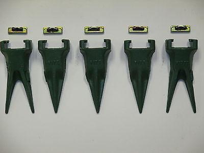 Esco Style Super V 5 Pack 2-v17tvy Twin Tiger Teeth 3-v17vy Tigers 5-v13-17pn