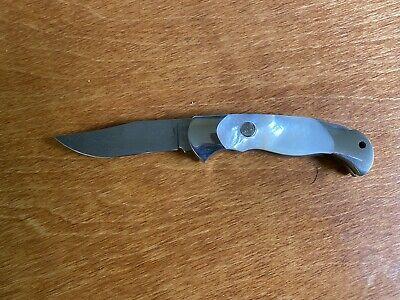 RARE VINTAGE Boker Tree Brand Damascus Mother Of Pearl Knife NEW 2007DAM