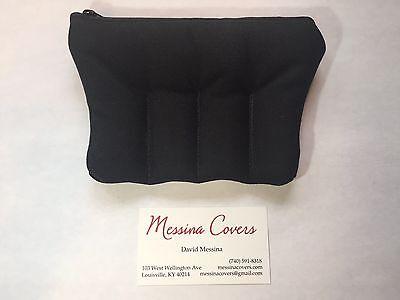 Messina Covers 4 Trumpet Mouthpiece Case Pouch Bag Black Quad Four