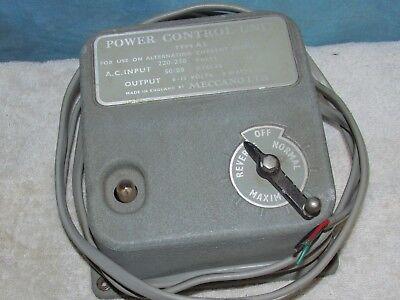 Vintage MECCANO Type A2 Model Train Power Control Unit Untested J0623