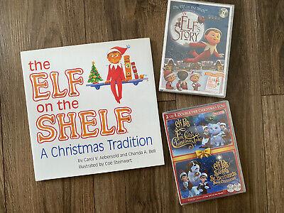 Elf on the Shelf Book DVD Movie LOT Set An Elf's Story Elf Pets Christmas NEW