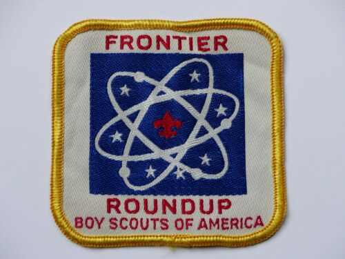 Used Vintage Frontier Roundup Boy Scout BSA Patch Atomic