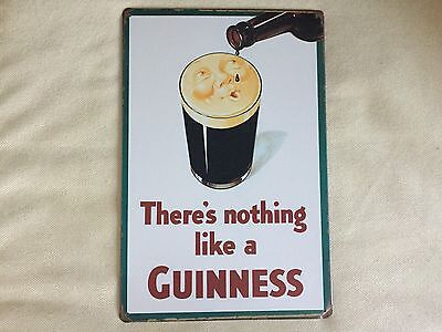 Cool Breweriana  Theres Nothing Like A Guinness Metal Beer Sign New 8 X 11 3 4