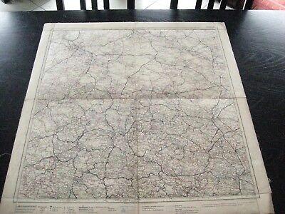 alte Landkarte Blatt 7 Deutschland Bremen Hannover Halle Ülzen um 1900