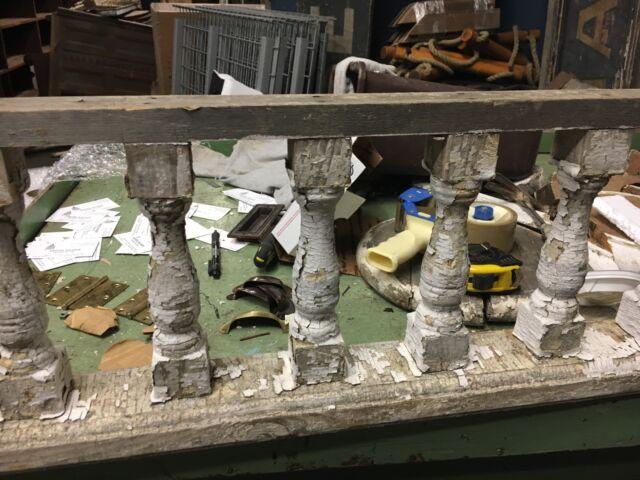 "c1880 victorian porch spandrel pediment turned spindles 8""h - 11' 9"" L x 10.75"""