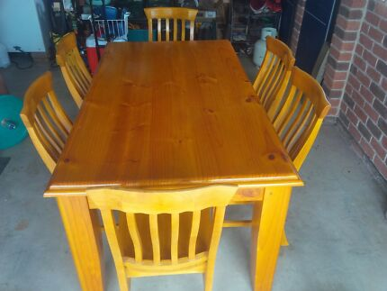 Solid 6 Piece Dining Suite For Sale