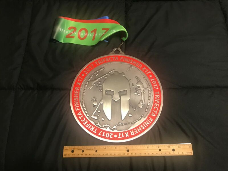 2017 Reebok Spartan Race 17X Trifecta Medal