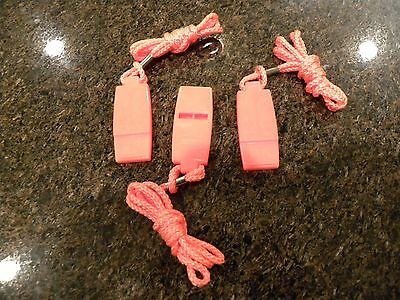 3 - NEW SEACHOICE WHISTLES-ORANGE PLASTIC-(BULK)  - Plastic Whistles Bulk