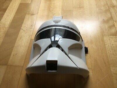 Star Wars Helm  Star Trooper weiß mit englischer Sprache Knopf - Karneval Kostüm