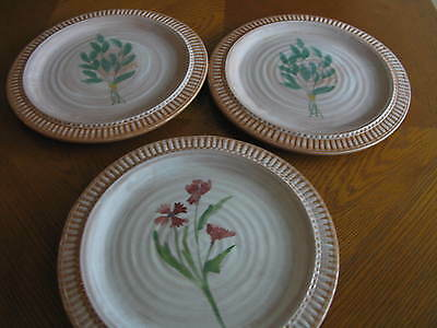 Set Of 3 Maioliche Jessica Salad Plates