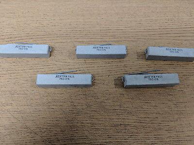 8214 75 Ohm 7w 10 Trwb Pw25 Cemented Wirewound Resistor Lots Of 5pcs