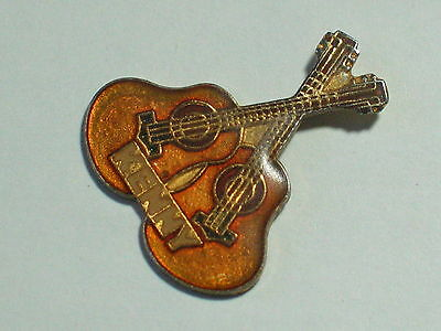 Kenny Rogers Double Guitar Pin Badge Lapel Hat Tack