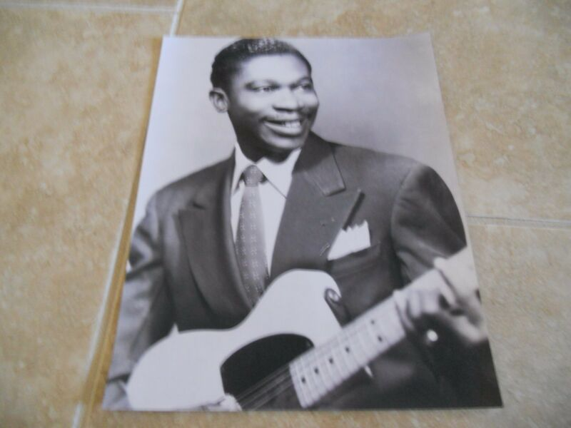 BB King Vintage Young B&W 11x14 Promo Photo King Of The Blues