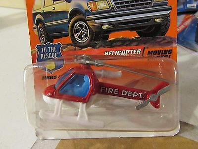 Matchbox Helicopter #29 from 1997 (Clear plastic dented)