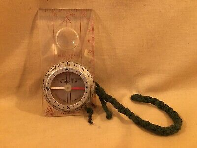 Outdoor Military Mini Compass Scale Ruler Baseplate For Camping Hiking VQ TD