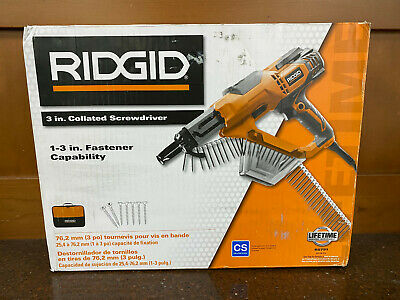 Ridgid 3 In. Drywall And Deck Collated Screwdriver R6791 New - Never Used