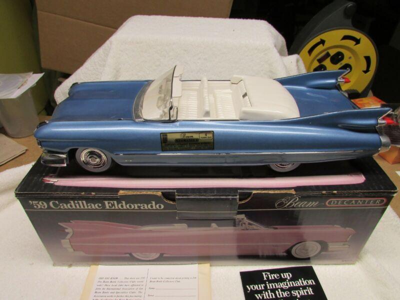 Jim Beam 59 blue Cadillac decanter VHTF only 200 made MIB Empty