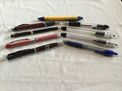 LOT 10 Ink FOUNTAIN PENS Bic Pilot PENTEL WORKING PARTS