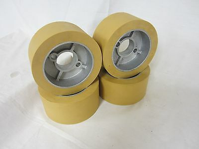 Rubber Power Feeder Roller Wheels Ro-12 Set Of 4 For Most 1hp Feeders
