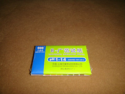 Ph Indicatoruniversal Ph 1-14 Test Indicator Paper Litmus Strips80tripspack