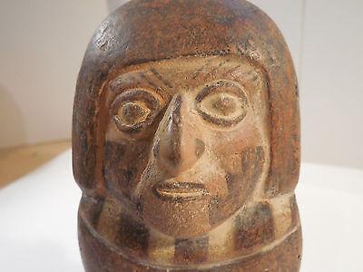 Moche Rare Style Figure Mochica pre-Columbian Archaic Ancient Artifact Mayan