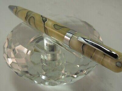 GENUINE LIBELLE IVORY PEARL BLACK SWIRLS TWIST BALL POINT PEN Libelle Black Pen